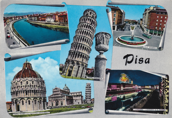 Cartes Postales Pop et Kitsch des années 50, 70 et 70 - Pop and kitsch vintage postcards from the fifties, the sixties and the seventies : De ville en ville