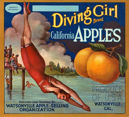 An Apple Vintage Postcard a Day Keeps the Doctor Away