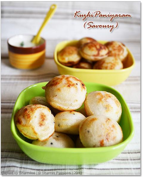 Kuzhi paniyaram (Sweet & Savoury)