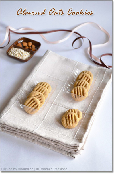 Almond Oats Cookies Recipe