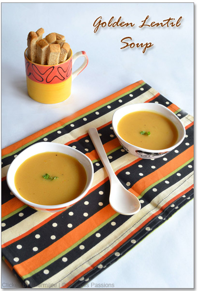 Golden Lentil Soup Recipe
