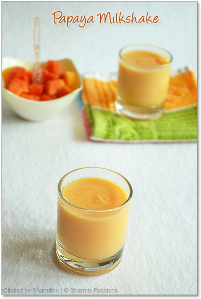 Papaya Milkshake Recipe