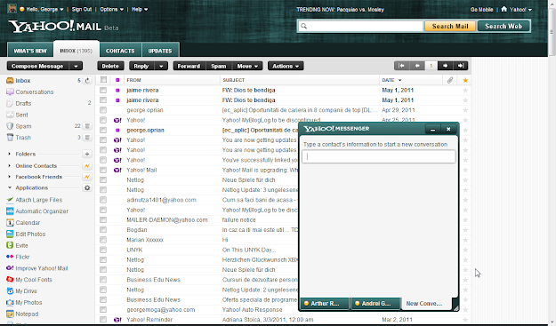 Yahoo! Mail new beta interface