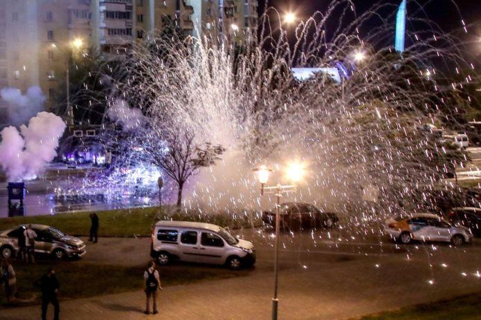 Взрыв светошумовой гранаты в Минске