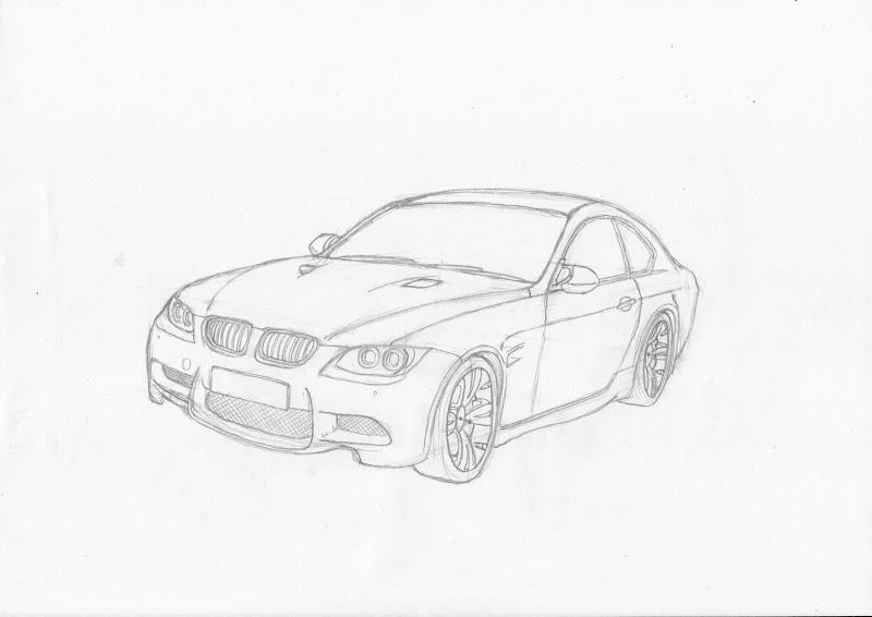 cara menggambar sketsa mobil dengan pensil - 28 images