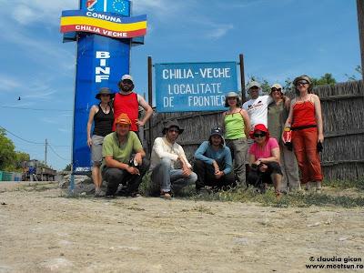 la intrarea in Chilia Veche - localitate de frontiera