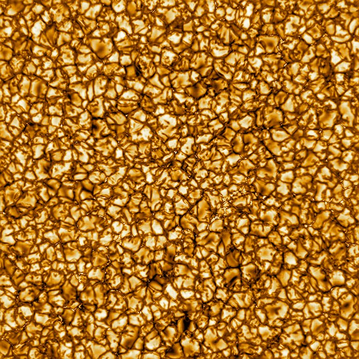 Самое детальное изображение поверхности Солнца выглядит так