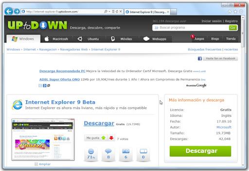 """2011 02 24 11 33 15 Internet Explorer 9 RC: la """"e"""" azul mejora a pasos agigantados"""