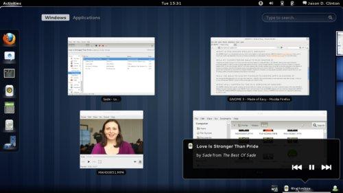 overview big Llega GNOME 3: el escritorio más clásico se adapta a las necesidades actuales