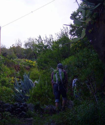 Wanderer beim Aufstieg,La Palma,Kanaren