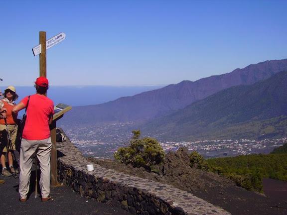 Auf dem Mirador Llanos de Jable mit schöner Aussicht,La Palma,Kanaren