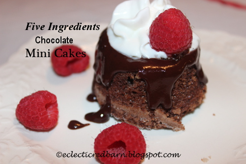 Eclectic Red Barn: 5 Ingredient Chocolate Cakes