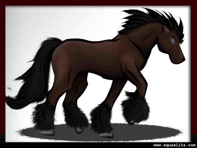 Современный рисунок лошади