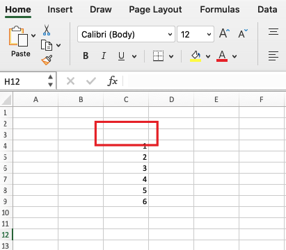 Select the cell where you want the Excel multiple selection dropdown should be
