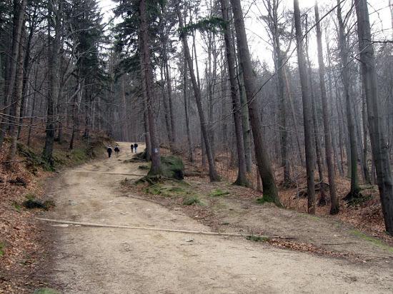 zamek Chojnik - szlak na wzgórze