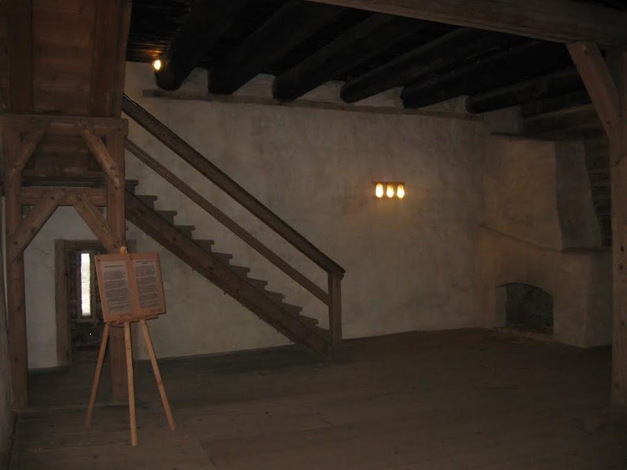 siedlęcin - wnętrza wieży rycerskiej