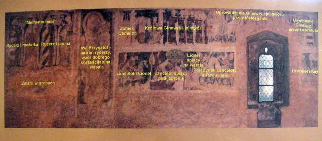 siedlęcin - wieża rycerska malowidła