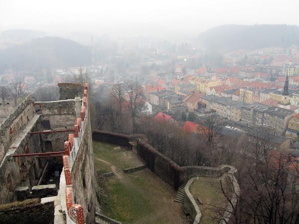 Zamek Bolków - widok z wieży zamkowej