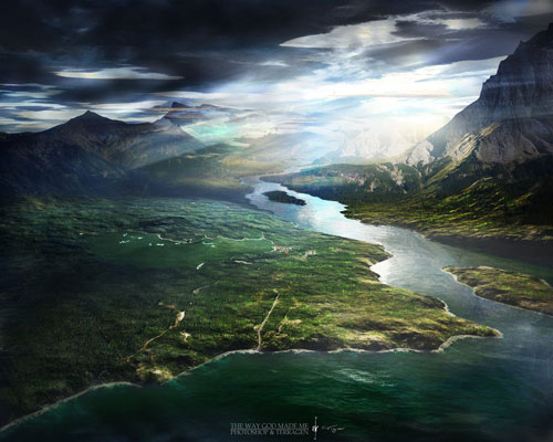 Terragen - The Way God Made Me wallpaper