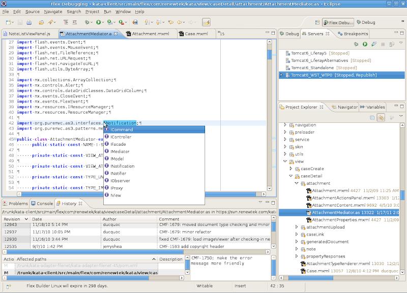 Eclipse FlexBuilder Linux