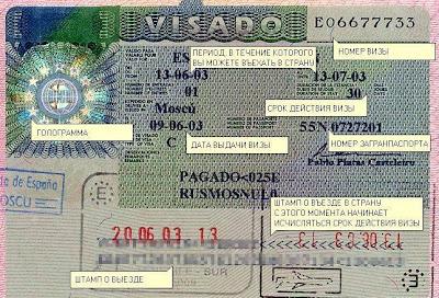 Виза во Францию, виза в Испанию,visado Francia, visado Espana