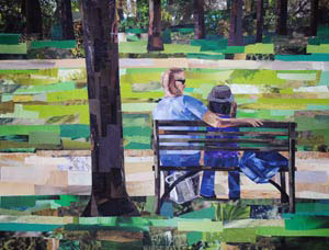 Leisure Day by collage artist Megan Coyle