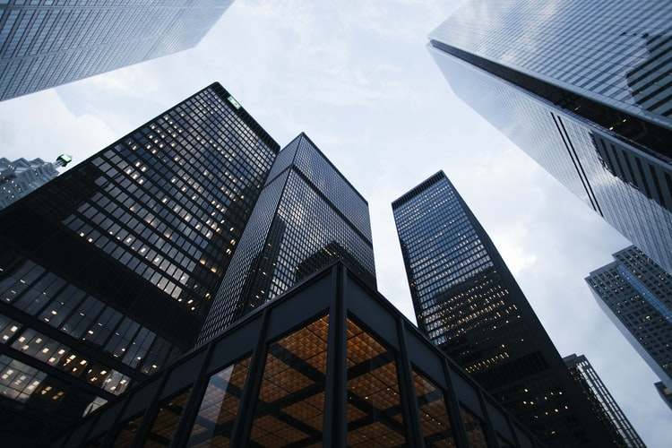 skyscrapers seen from the ground