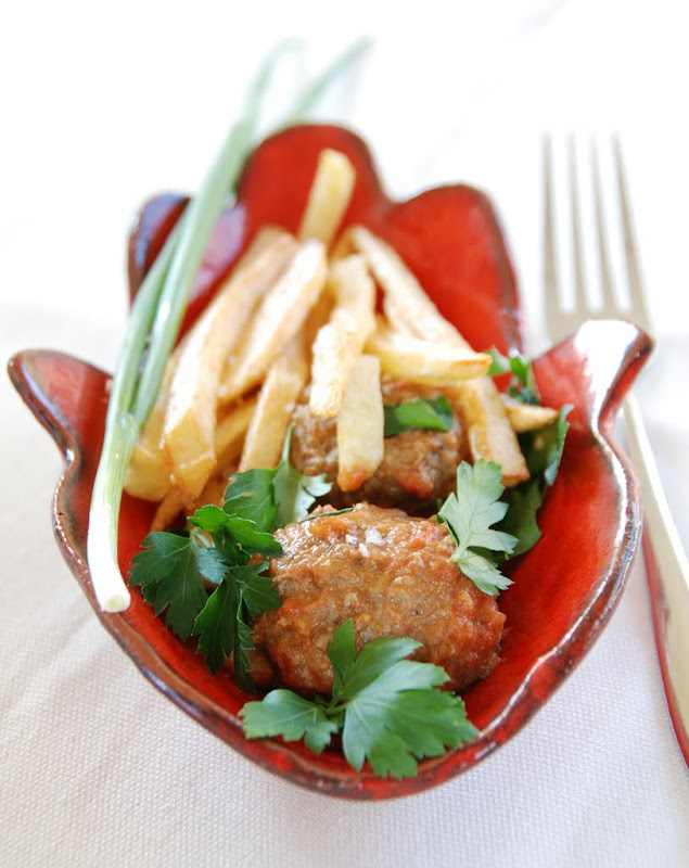 meatballs with roasted chickpea flour