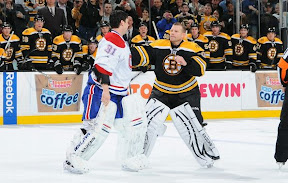 Tim Thomas and Carey Price drop the goalie equipment and square off