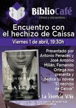 """Presentación de la novela """"El Hechizo de Caissa"""""""