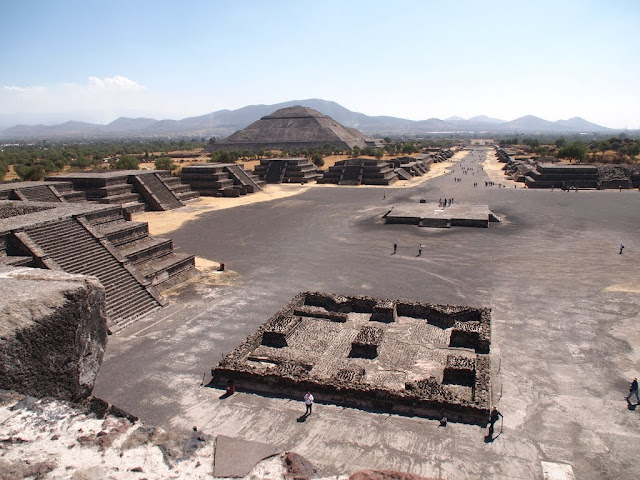 A view of Teotihuacan from the pyramid of the moon