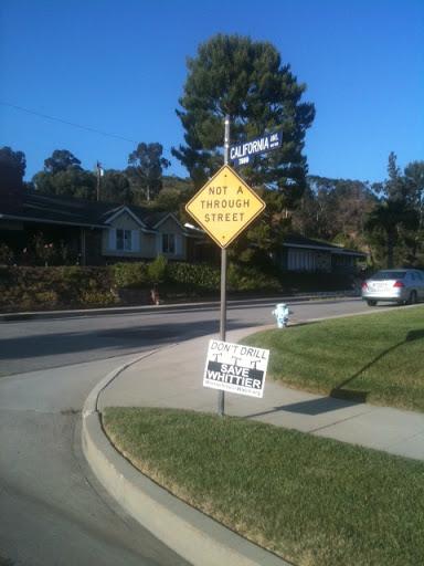 California, not a through street