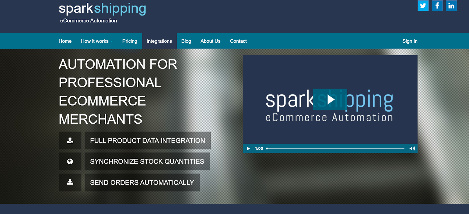 spark shipping dropshipping website