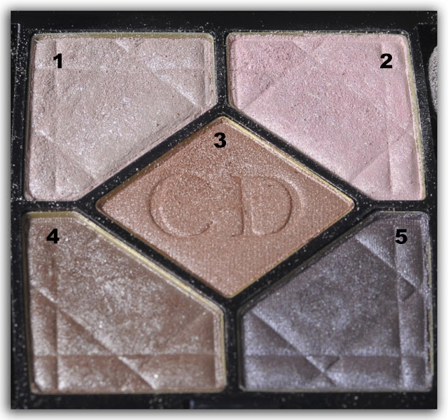 Dior 5-Colour Iridescent Eyeshadow 809 Petal Shine