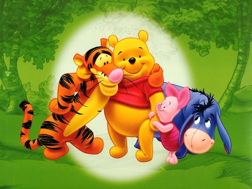 Cartoon Images of Winnie the Pooh Friends