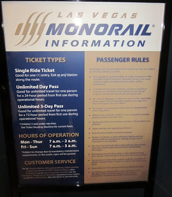 Las Vegas monorail sign photo
