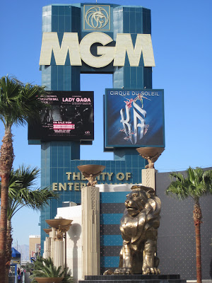 Tall MGM sign lion vegas photo