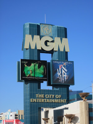 MGM vegas large sign neon photo