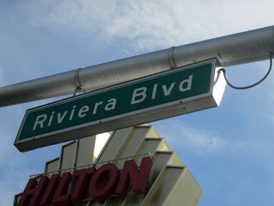 Riviera Blvd Las Vegas Street Sign Photo