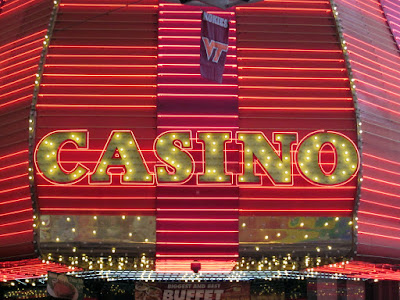 Casino red sign las vegas downtown photo
