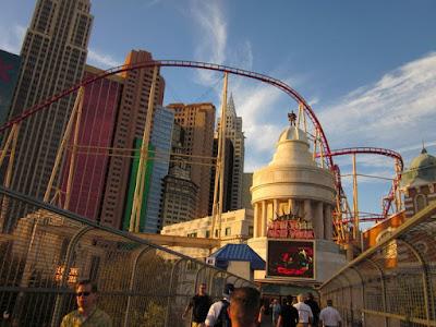 New York hotel casino vegas roller coaster photo