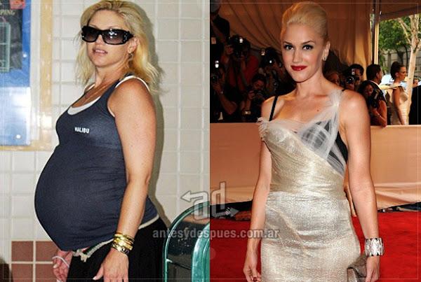 Antes y despues de Gwen-Stefani embarazada