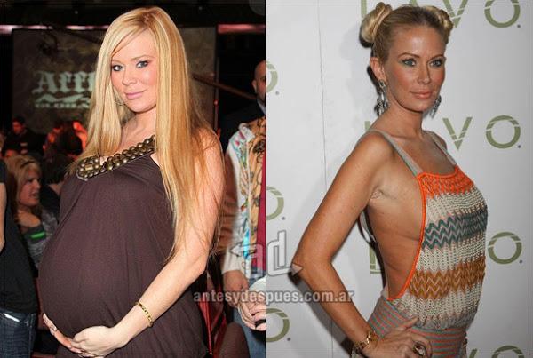 Antes y despues de Jenna-Jameson embarazada