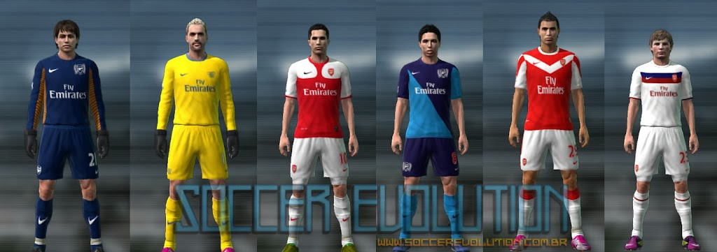 PES 2011: Uniformes do Arsenal 2011/12 pes2011 uniformes