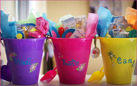 Pool Party Gift Bag Ideas i really love this cute teacher gift idea from lauren mckinsey turn a simple bag of goldfish crackers into an adorable way to say thank you to your childs Bug Garden Party Maddie Is 1 Chickabug
