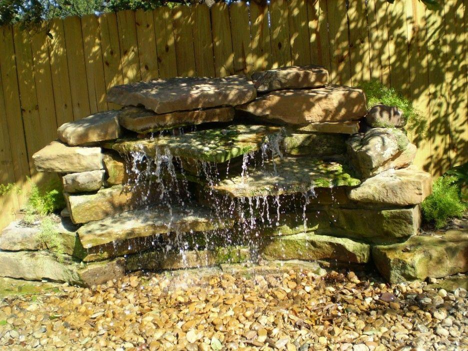 Image result for small stone waterfall