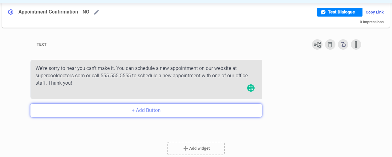 appointment reminder SMS bot