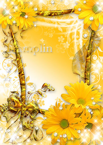 Цветочная рамка - Краткий миг красоты