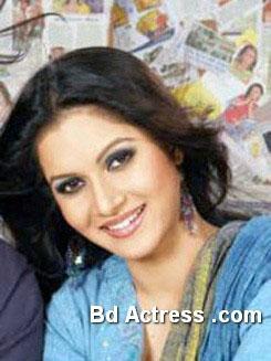 Bangladeshi Model Mithila smiling