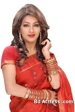 Bangladeshi Model Monalisa red dress